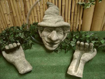 Steinfigur Wasserspeier , für Garten & Teich