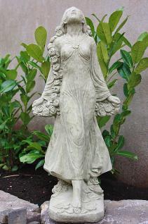 Steinfigur Mädchen Rosemarie, Figur aus Steinguss