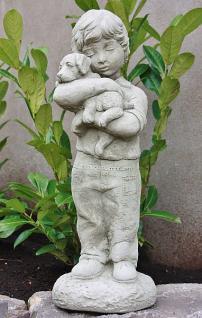 Steinfigur Junge Norbert aus Steinguss