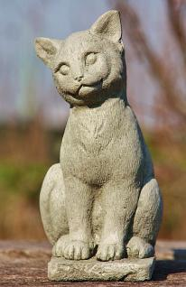 Steinfigur Katze, Figur aus Steinguss Katzen