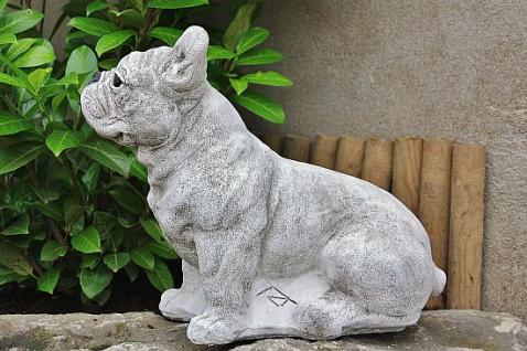 Französische Bulldogge, Hund aus Steinguss, Hunde, Hundefigur, Tierfigur - Vorschau 2