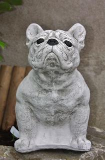 Französische Bulldogge, Hund aus Steinguss, Hunde, Hundefigur, Tierfigur - Vorschau 3
