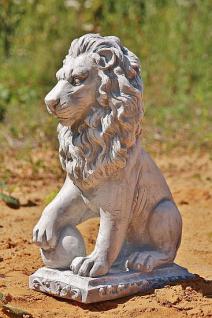 Steinfigur Löwe, Tierfigur aus Steinguss, Löwen, Raubkatze