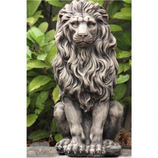 Steinfigur Löwe aus Steinguss frostfest für Haus und Garten Löwen