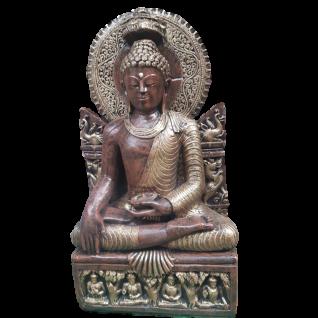 BUDDHA FIGUR aus STEINGUSS für den GARTEN FROSTSICHER STEINFIGUR NEU ROP-265