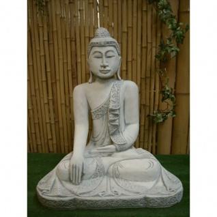 THAI BUDDHA STEINGUSS für KOI TEICH UND GARTEN FROSTFEST GARTENFIGUR NEU PO-136