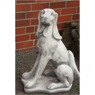 Hund Jagdhund Figur Aus Steinguss Für Garten Frostfest Figur Figuren Neu Ja-007 - Vorschau 1