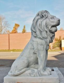 LÖwe Aus Steinguss Rechts Blickend Garten Figuren Tier LÖwen Raubkatze Po-1134 - Vorschau 2