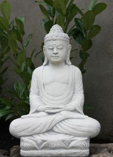 SITZENDER BUDDHA SKULPTUR STEINGUSS TEICH FROSTFEST FIGUREN NEU BUDDHAS PO-K2