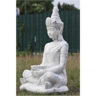 Steinfigur Buddha, 80 cm hoch, Figur aus Steinguss - Vorschau 2