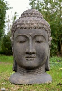 BUDDHA MASKE aus STEINGUSS für den GARTEN FROSTFEST WETTERFEST NEU AP-BM-100af