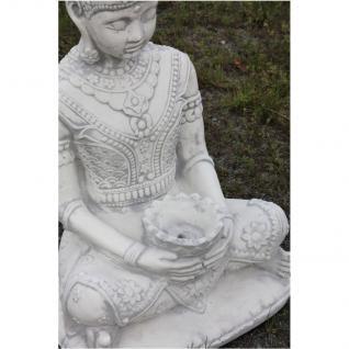 Steinfigur Buddha, 80 cm hoch, Figur aus Steinguss - Vorschau 3