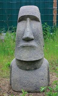 OSTERINSEL KOPF 60 cm HOCH FIGUR STEINGUSS HOHLGUSS FROSTFEST APL-Moai-060af