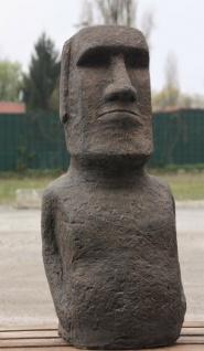 OSTERINSEL KOPF 75 cm HOCH FIGUR STEINGUSS MOAI DEKORATION NEU FROSTFEST JA-011