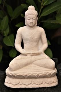 BUDDHA SANDSTEINGUSS FIGUR NEU DEKORATION WOHNDEKO FROSTFEST ASIATISCH YIA-02