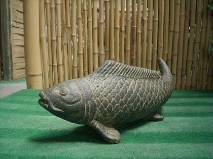 Steinfigur Fisch, Figur aus Steinguss - Vorschau 3