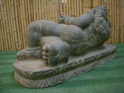 Ganesha, liegend, Figur aus Steinguss - Vorschau 2