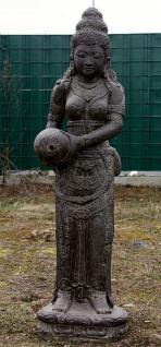 Sri Devi als Wasserspeier, 120 cm hoch, Figur aus Steinguss
