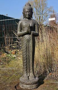 """Steinfigur Buddha """"Begrüßung"""", aus Steinguss"""