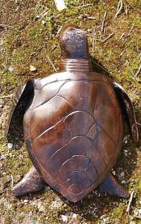 Bronzefigur große Meeresschildkröte, Tierfigur aus Bronze, Panzertier, Kriechtier - Vorschau 2