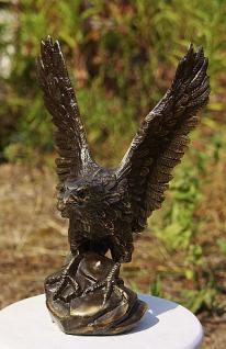 Bronzefigur Adler, Greifvogel aus Bronze - Vorschau 3