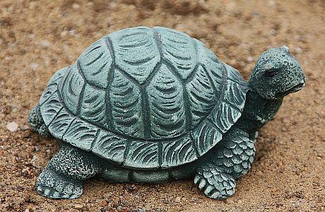 Steinfigur Schildkröte, Figur aus Steinguss, Tierfigur, Steinfigur, Patiniert - Vorschau