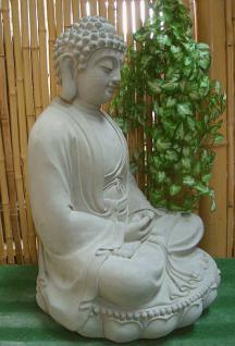 Steinfiguren Buddha aus Steinguss 60 cm H für Koiteich - Vorschau 3