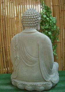 Steinfiguren Buddha aus Steinguss 60 cm H für Koiteich - Vorschau 4