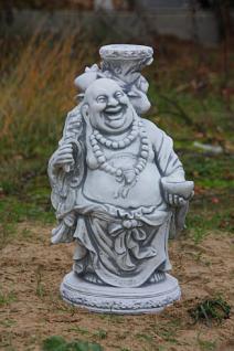 Steinfigur lachender buddha figur aus steinguss kaufen for Steinfigur buddha garten
