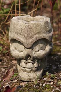 Steinfigur Aschenbecher Totenkopf, Aschenbecher Schädel aus Steinguss
