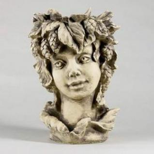 Steinfiguren Blütentopf Hopfen, Blumentopf aus Steinguss