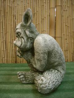 Keramikhahn antikcreme patiniert Figur wetterfest