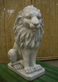 Steinfiguren Löwe, Figur aus Steinguss, patiniert, 95 cm hoch Löwen Raubkatze Raubkatzen - Vorschau 2