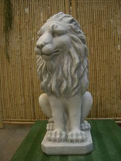 Steinfiguren Löwe, Figur aus Steinguss, patiniert, 95 cm hoch Löwen Raubkatze Raubkatzen - Vorschau 1