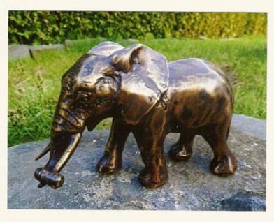 Bronzefigur Elefant, Figur aus Bronze, zur Dekoration, oder auch als edeles Geschenk Rüsseltier Dickhäuter - Vorschau 2