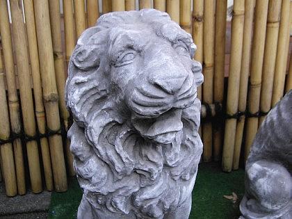 Steinfigur 2 Löwen Anthrazit aus Steinguss frostfest massiv Löwe - Vorschau 3
