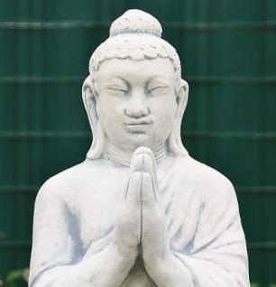 Steinfigur Buddha stehend Steinguss 112 cm H - Vorschau 2