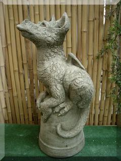 Steinfigur Drache Snap von Pheeberts frostfest