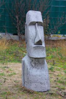 Steinfigur Osterinsel Kopf, Figur aus Steinguss