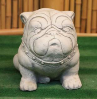Steinfiguren Bulldogge, Tierfigur aus Steinguss, Hund, Hunde