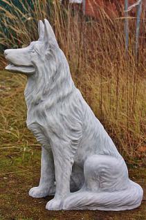 Steinfiguren Schäferhund, Tierfigur aus Steinguss, Hund, Hunde