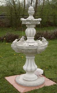 Steinfigur Frosch Springbrunnen Wasserspiel aus Steinguss
