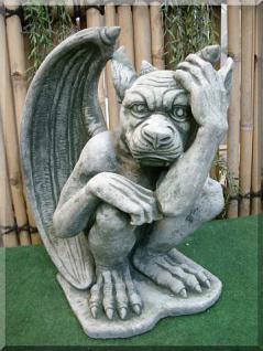Steinfigur Gargoyle aus Steinguss Mystik