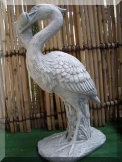 Steinfiguren Fischreiher, Tierfigur aus Steinguss Reiher Vogel Vögel