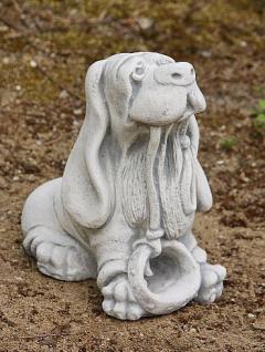 Steinfigur Hund mit Leine, Figur aus Steinguss, Hunde, Cocker Spaniel