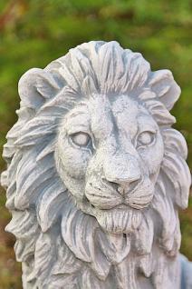 Steinfigur Löwenset, Zwei Löwen aus Steinguss, 40 cm hoch - Vorschau 3