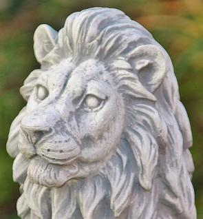 Steinfigur Löwenset, Zwei Löwen aus Steinguss, 40 cm hoch - Vorschau 4