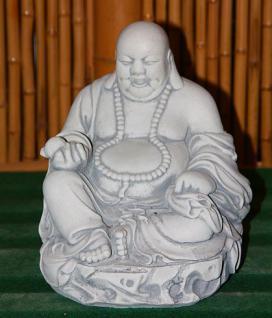 Steinfiguren sitzender Buddha, Skulptur aus Steinguss