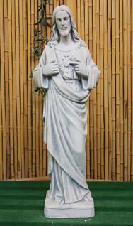 Steinfigur Jesus, Skulptur aus Steinguss