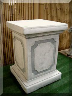 Steinfigur Sockel, 50 cm hoch, aus Steinguss, Neu, Frostfest